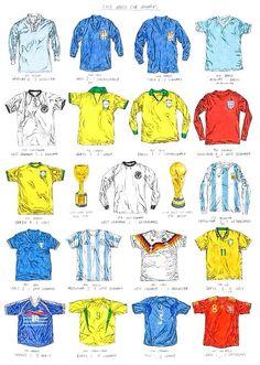 ea101e32fc41e Camisetas de los Campeones del Mundo Camisas Retro Futebol
