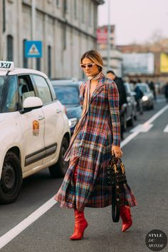 93c465fdb0 Thassia Naves wearing Missoni dress, Fendi boots and Dior bag before the  Missoni fashion show.