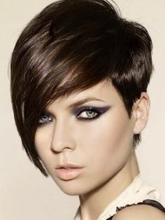Image Detail for - Hair Trends: Short Stacked Hairstyles 2012 (Pictures) Short Stacked Hair, Funky Short Hair, Short Hair With Layers, Short Hair Cuts For Women, Short Hairstyles For Women, Short Hair Styles, Short Cuts, Stacked Hairstyles, Asymmetrical Hairstyles