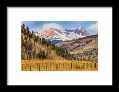 Through The Valley Up The Mountain Framed Print by James BO  Insogna.  All framed prints are professionally printed, framed, assembled, and shipped within 3 - 4 business days and delivered ready-to-hang on your wall. Choose from multiple print sizes and hundreds of frame and mat options. #insognaGallery #colorado #nature  #Mountains #art