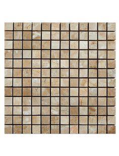 Bursa Beige 1x2 Brick Pattern Polished Marble Mesh Mounted Mosaic Tile #brick_pattern_marble_tile #bursa_beige_mosaic_tile Glass Mosaic Tiles, Marble, Mesh, Polish, Beige, Texture, Bathroom, Pattern, Surface Finish