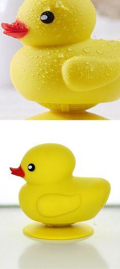 Duckie waterproof bluetooth shower speaker! Cute! #product_design