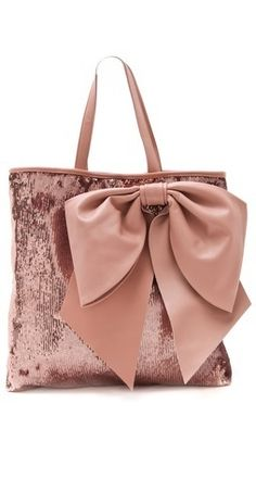 RED Valentino Paillettes Bow Tote - <3 it has 2 things I love ...a big bow & its shiny