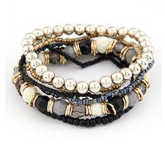 Multi Layer Beads Bracelet
