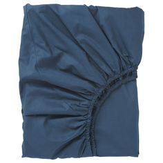 IKEA - ULLVIDE, Fitted sheet, dark blue, The lyocell/cotton blend absorbs and draws moisture away from your body and keeps you dry all night long. Extra soft and durable quality since the bedlinen is densely woven from fine yarn. Brimnes Bed, Hemnes, Cama Ikea, Ikea Bed, Decoration Ikea, Ikea Family, Bed Frame With Storage, Bedding, Dark Blue
