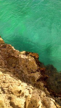 Emerald green water