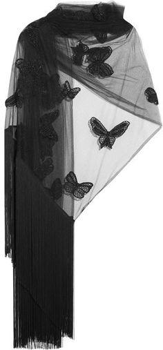 VALENTINO Appliquéd tulle scarf. Sophia00001 · Women s Hats 8ede0fb674c3