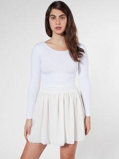 Chiffon Double-Layered Shirred Waist Skirt  #AmericanApparel  #PinATripWithAA