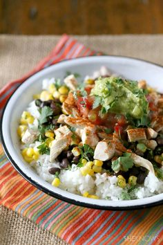 Copycat Chipotle honey chicken bowls
