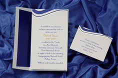 Tzitzit in Sapphire Bar Mitzvah Invitation - $1.42 each when you purchase 100