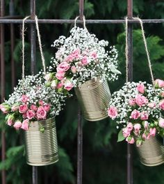 Girlande aus Blechdosen - gold - 5-teilig | Laternengirlanden | Girlanden | Dekoration | Bridal Shower | My Bridal Shower
