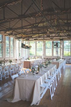 We're suckers for rustic elegance and fairy lights!