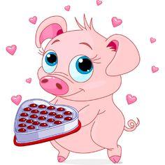 Piggy with Chocolates