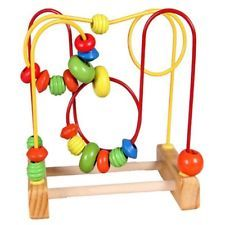 Toys & Hobbies Collection Here Ouy Trailer Track Labyrinth Wooden Child Trailer Pull Toy Puzzle Big Round Beads Quality And Quantity Assured