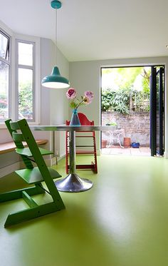 The Coloured Flooring Company - yes, this green could work