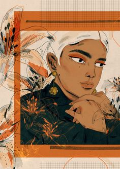 My final illustration for @project1324's campaign #OrangeTheWorld / manjitthapp