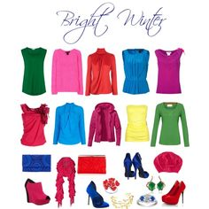 """Bright winter brights"" by sabira-amira on Polyvore"