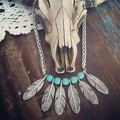 Cherokee dangle silver Native American Featherschocker necklace Bohemian Southwestern Tribal Statement piece Layering necklace by Inali Western Jewelry, Ethnic Jewelry, Boho Jewelry, Beaded Jewelry, Silver Jewelry, Leather Jewelry, Silver Earrings, Jewlery, Jewelry Necklaces