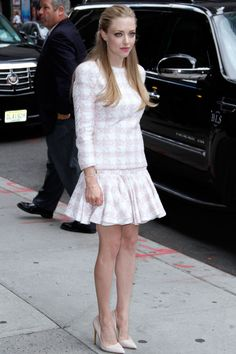 Amanda Seyfried in Balmain on the Late Show With David Letterman on July 30, 2013