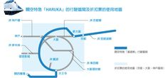 JR 關空特急「HARUKA」的行駛區間及折扣票的使用地區 Yen3000/one way or Yen4000/return