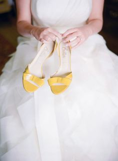 Vibrant Green and Ivory Honey Themed Virginia Wedding - Inspired By This,yellow wedding shoes Shoes Shoes have an extended shaft and keep people wonderful and hot in fall and winter. They could be smooth or have a higher he. Yellow Wedding Shoes, Yellow Wedding Colors, Colorful Wedding Shoes, Yellow Weddings, Yellow Theme, Color Yellow, Dream Wedding, Wedding Day, Spring Wedding