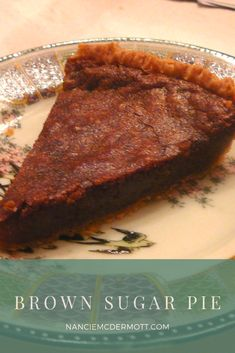 Simplicity itself, this Brown Sugar Pie is an old-timer. Perfect for Thanksgiving or Christmas that will add a little sweetness. Jello Recipes, Pie Recipes, Sweet Recipes, Dessert Recipes, Cooking Recipes, Chicken Recipes, Recipies, Yummy Treats, Sweet Treats