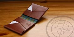 Handmade, single piece leather wallet without any stiches