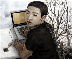 Japanese contemporary art  Surreal Art By Tetsuya Ishida