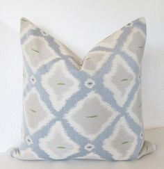 Blue and Gray Ikat