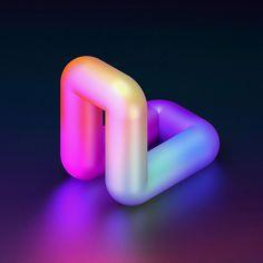 36 Days of Type 2016 on Behance 3d Artwork, Artwork Pictures, Artwork Design, Artwork Ideas, Typography Inspiration, Graphic Design Inspiration, 3d Cinema, 3d Type, 3d Typography