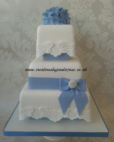 hydrangea wedding cakes pictures | Blue Hydrangea Wedding Cake | Flickr - Photo Sharing!