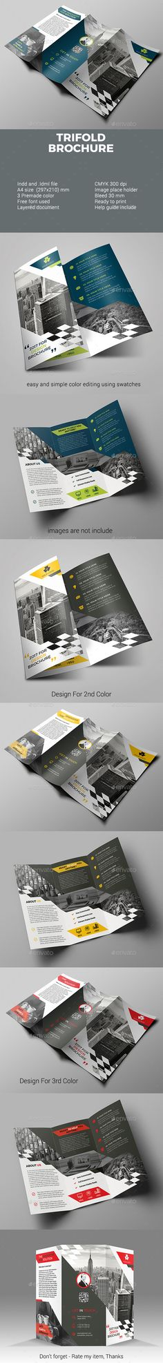 #Trifold #Brochure - #Corporate Brochures Download here: https://graphicriver.net/item/trifold-brochure/19706982?ref=alena994