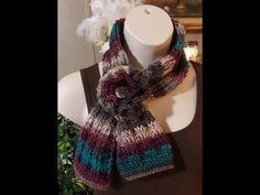 #Crochet Ribbed Ascot Scarf Cowl #TUTORIAL