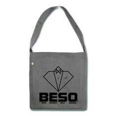 Sac bandoulière, logo B-E-S-O by CostarDiamant en impression direct noir, bon voyage ;)