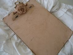 Passionate for White: A Shabby Clipboard and a Winner of the Dish Towels