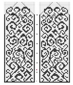 Chart would be beautiful with variegated background yarn Knitted Mittens Pattern, Fair Isle Knitting Patterns, Fair Isle Pattern, Bead Loom Patterns, Knitting Charts, Knit Mittens, Knitting Stitches, Knitting Designs, Knitting Socks