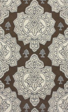 Anchor your patio seating group or define space in the den with this artfully hand-tufted indoor/outdoor rug, showcasing a damask-inspired medallion motif fo. Brown Rug, Rugs Usa, Indoor Outdoor Rugs, My Living Room, Online Home Decor Stores, Throw Rugs, Joss And Main, Rugs On Carpet, Carpets