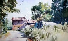 Watercolour online class with Jem Bowden Course Artwork