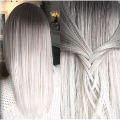 Platinum smokey hair color