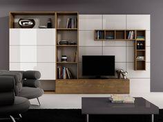 Meblościanka Abar - foto 1 Condo Living Room, Living Room Cabinets, Living Room Modern, Living Room Designs, Cabinet Furniture, Living Furniture, Home Office Furniture, Furniture Buyers, Study Table Designs