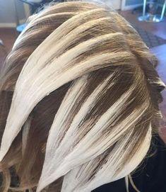 Balayage hair painting.