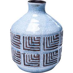 Deco Vase Muse Blue 20cm by KARE Design #blue #blau #muse #deco #vase #bleu #KARE #KAREDesign