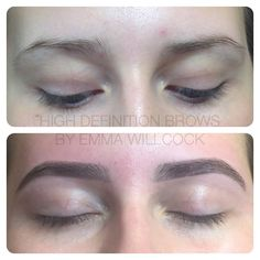 High Definition Brows (formerly HD Brows) before & after by ELITE Trainer & Stylist Emma Willcock. 2 years on.