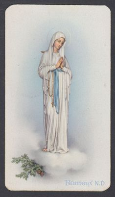 OUR Lady of Banneux vintage french Holy catholic card - CAD $5.20. Circa 1910 Size : 6 x 10 cm You received exactly the old card of this photo! About Holy cardsAll our holy cards are antique or vintage. They are stamped usually on paper or hand made paintedEvery card is like a miniature picture, see all details! 222843083383