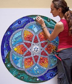 MANDALA fj Mosaic Art by fernanda jaton, via Flickr
