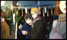 Kageyama and Tsukki