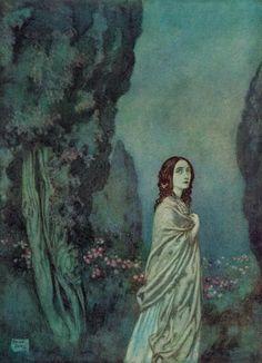 To Helen - Edmund Dulac illustration from The Poetical Works Of Edgar Allan Poe, published Edmund Dulac, Charles Perrault, John Howe, Images Esthétiques, Fairytale Art, Wow Art, Edgar Allan Poe, Design Graphique, Vintage Art
