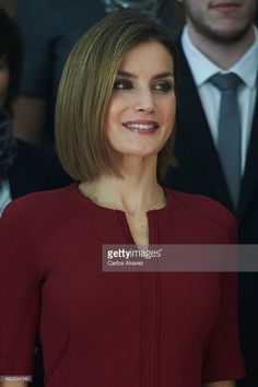 Queen Letizia of Spain attends several audiences during the 'Princess of Asturias' (Princesa de Asturias) Awards 2015 at the Reconquista Hotel on October 23, 2015 in Oviedo, Spain.  (Photo by Carlos Alvarez/Getty Images)