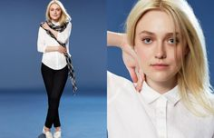Dakota Fanning Gets Casual in Uniqlo Spring 2014 Campaign