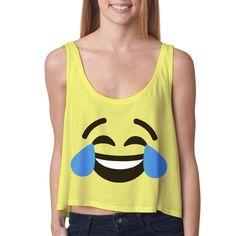 Funniest Thing Ever Emoji Crop Top